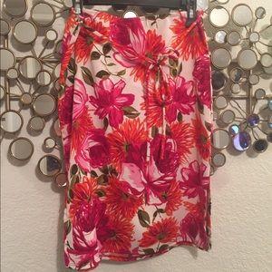 Dresses & Skirts - Pink & Orange Floral Print Skirt